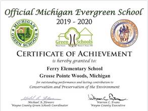 Ferry Elementary is a Michigan Evergreen School