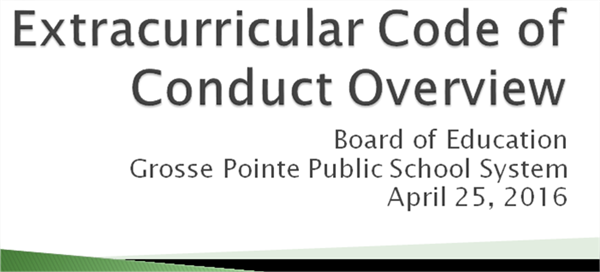 Extracurricular Code of Conduct Review